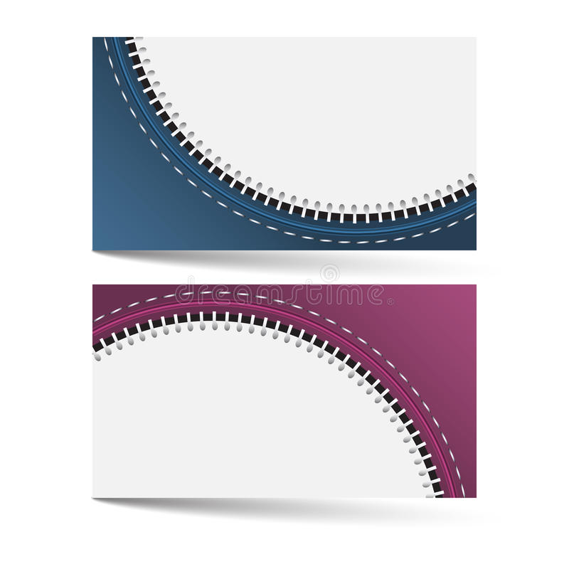 Horizontal business card template with zip pattern and two color download horizontal business card template with zip pattern and two color options stock vector illustration colourmoves