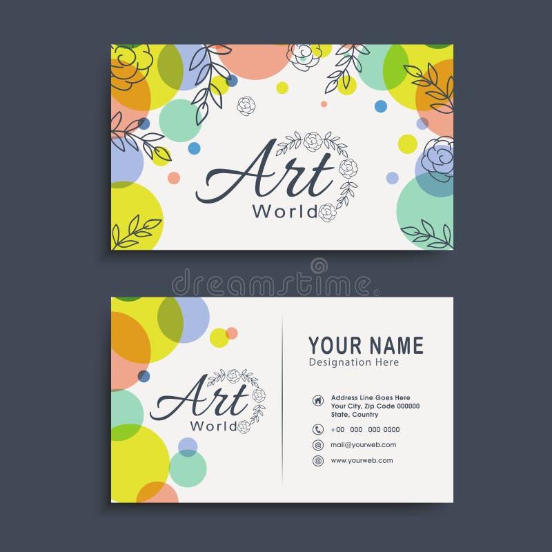 Horizontal Business Card Or Visiting Card Set. Stock Photo - Image ...