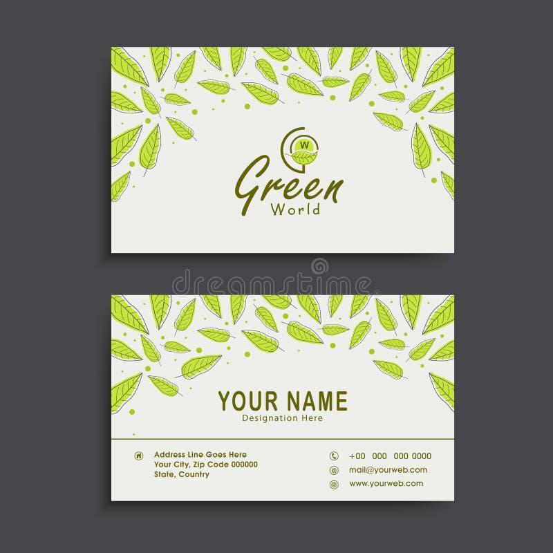 Horizontal business card or visiting card set stock illustration download horizontal business card or visiting card set stock illustration illustration of green colourmoves