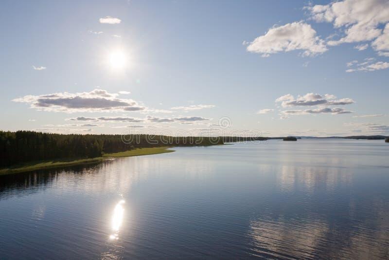 horizontal calme de lac photo libre de droits