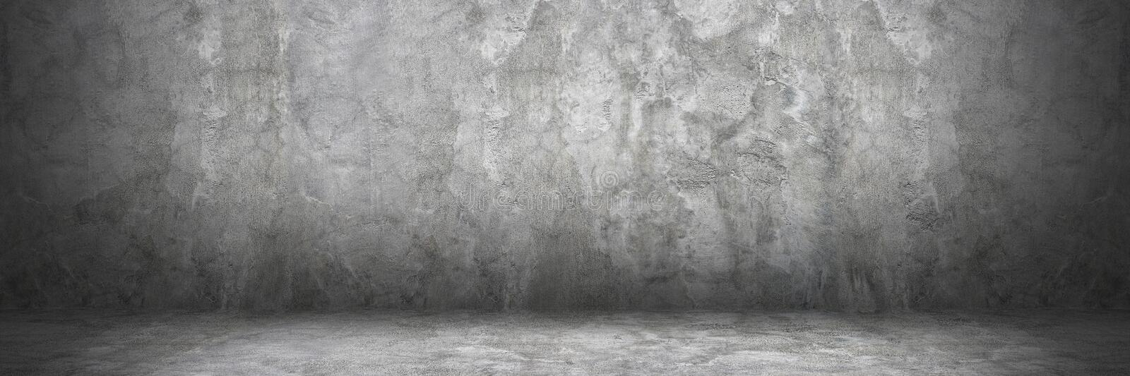 Horizontal cement wall and floor with shadow for pattern and background.  stock photo