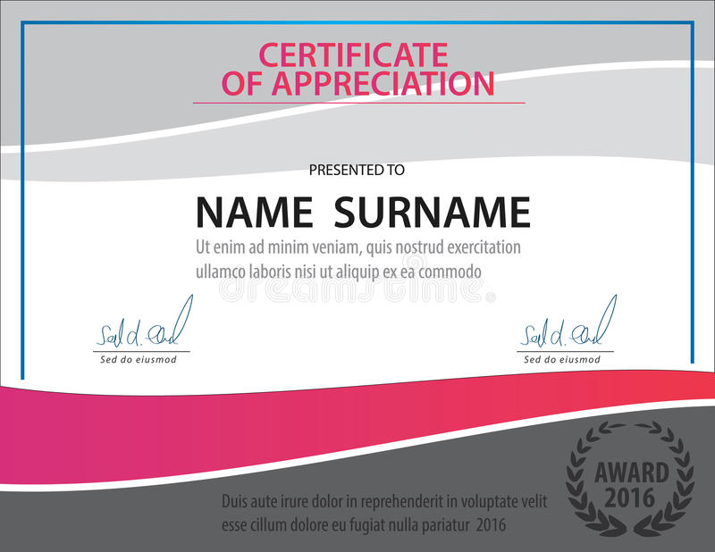 Horizontal certificate templatediplomaletter size vector stock download horizontal certificate templatediplomaletter size vector stock vector illustration of yadclub Gallery