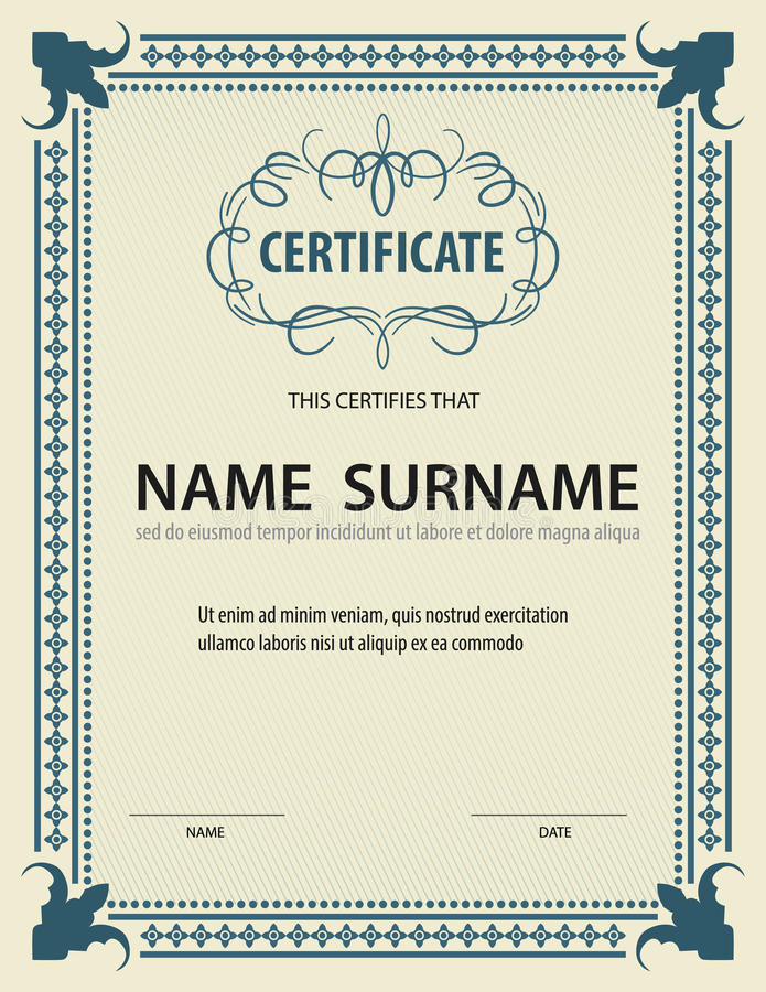 Horizontal certificate templatediplomaletter size vector stock download horizontal certificate templatediplomaletter size vector stock illustration illustration of yadclub Gallery