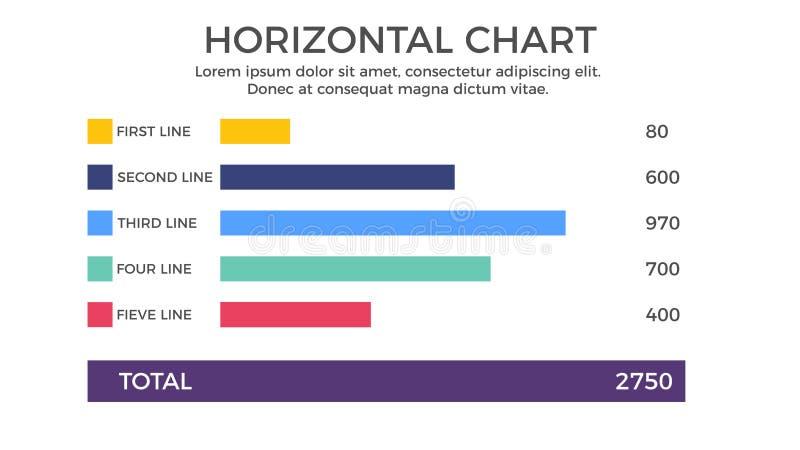 Horizontal Chart Infographic Element vector illustration
