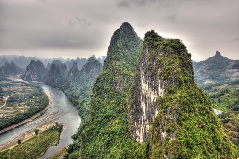 Horizontal chinois de montagne photos libres de droits