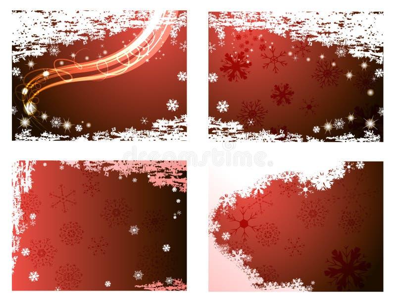 Horizontal Christmas Backgrounds Stock Photography