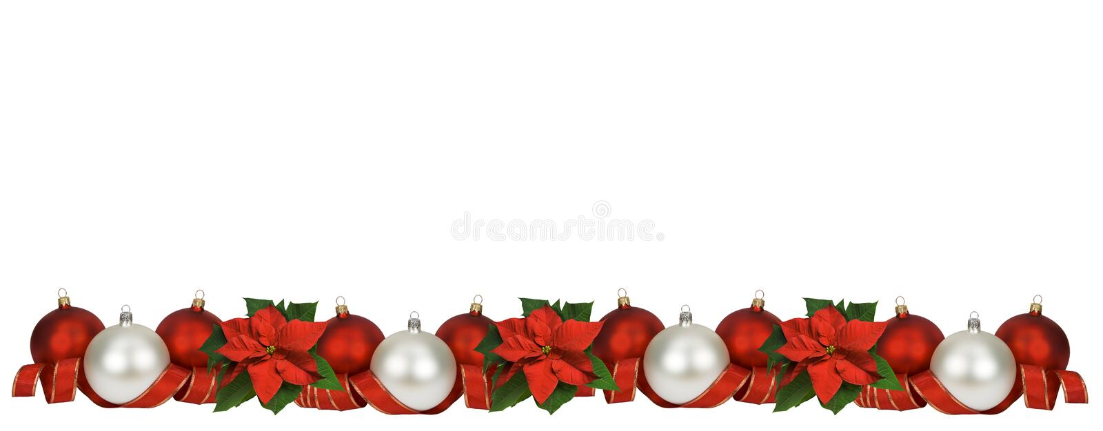 Horizontal christmas border stock image