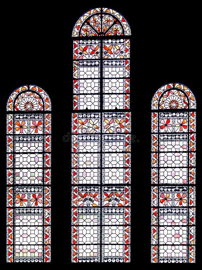 Horizontal church window stock photography