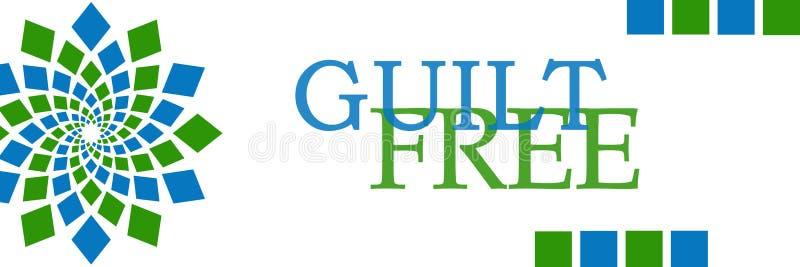 Horizontal circulaire vert-bleu gratuit de culpabilité illustration stock