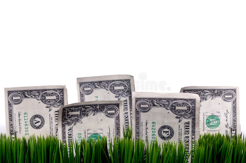 A Horizontal Closeup Of A Dollar Bills Stashed In Stock Images