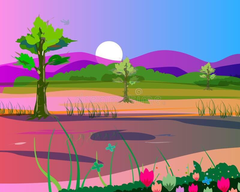 Horizontal coloré photographie stock