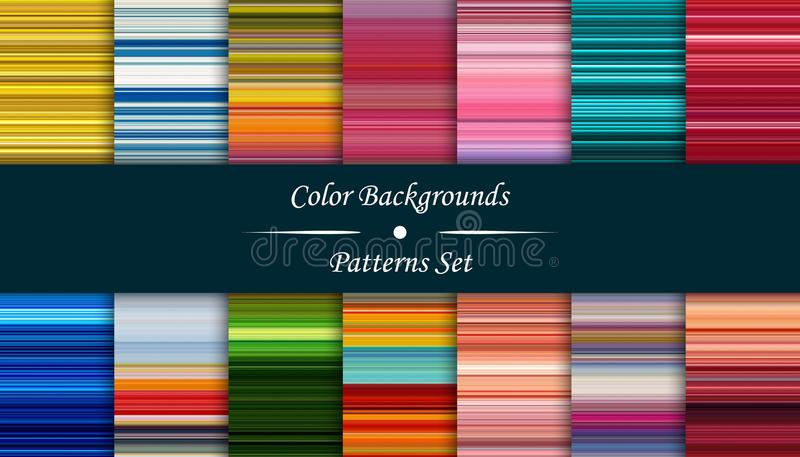 Horizontal colorful stripes abstract background, stretched pixel royalty free illustration