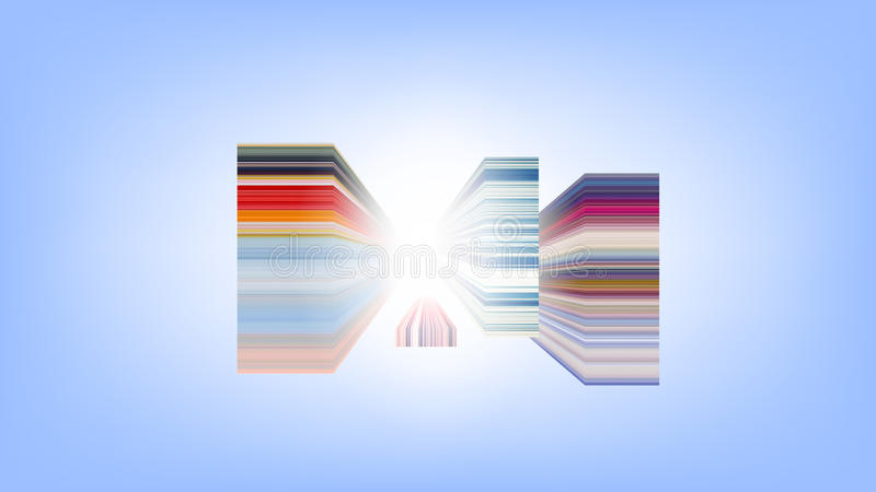 Horizontal colorful stripes abstract background, stretched pixels effect. royalty free illustration