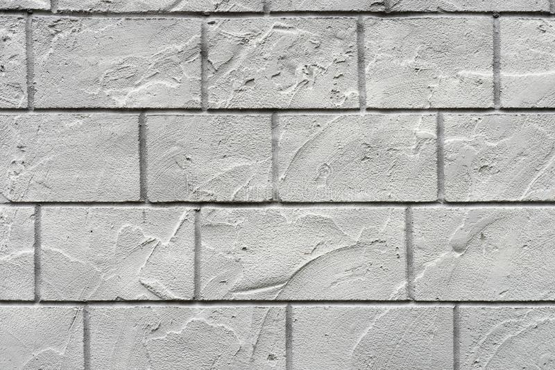 Horizontal concrete wall textured background. White grey rustic color.  Grungy Shabby Uneven Painted Plaster. Abstract, aged, architecture, area, backdrop stock photography