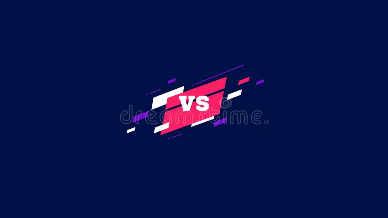 Horizontal contra la pantalla, el logotipo contra las letras para los deportes y la competencia de la lucha Muttahida Majlis-E-Am ilustración del vector