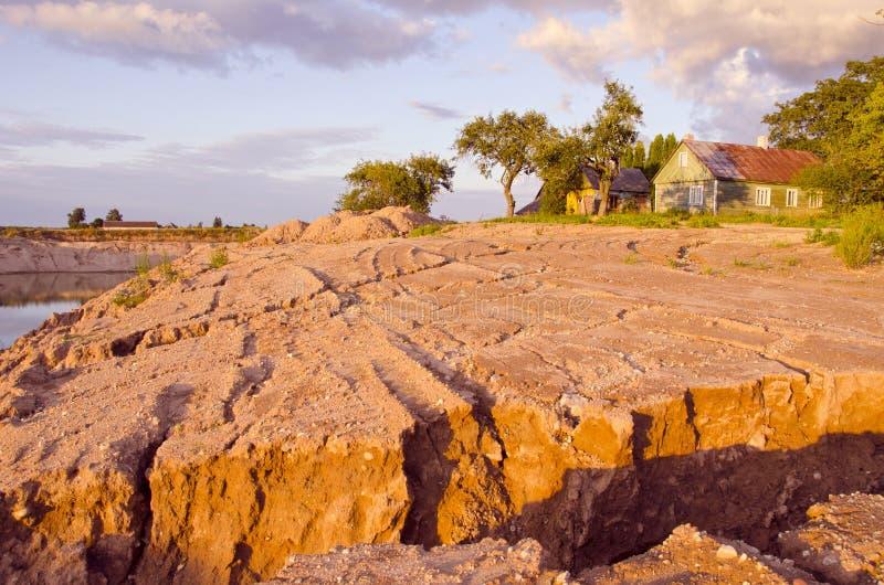 Horizontal d'érosion pluviale photos stock