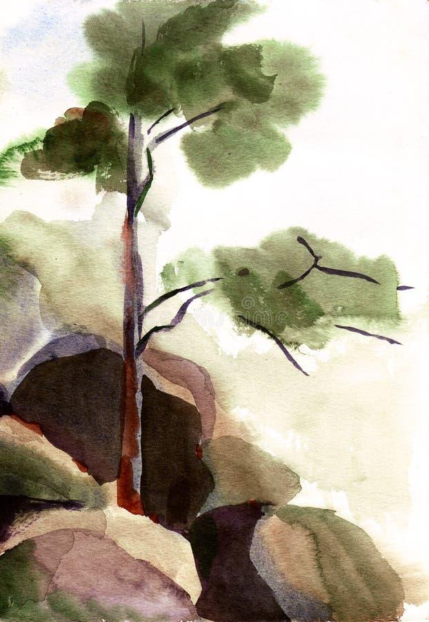 Horizontal d'aquarelle