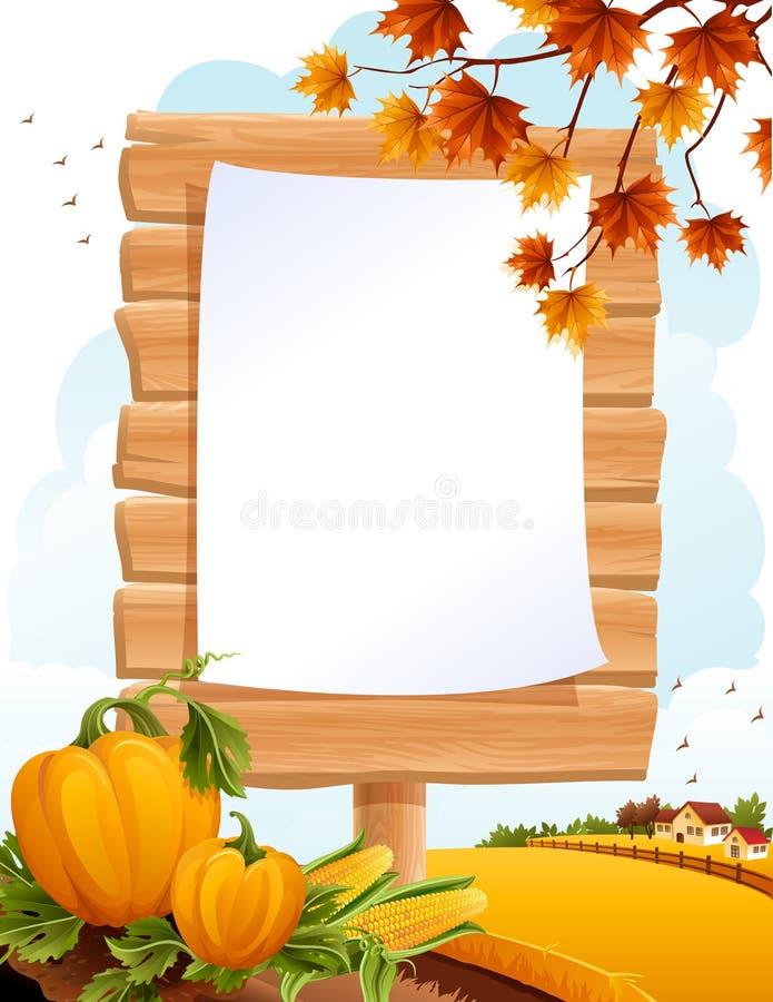 Horizontal d'automne illustration libre de droits