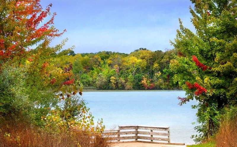 horizontal d'automne scénique photos stock