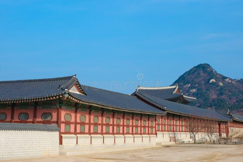 Horizontal d'histoire de la Corée de palais de Kyongbok bel photo stock