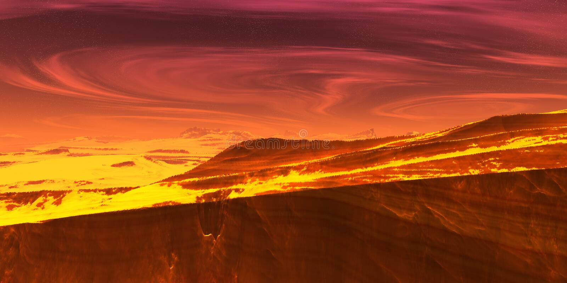 Horizontal d'incendie illustration libre de droits