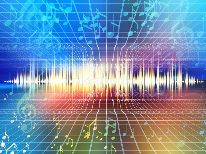 Horizontal d'onde sonore illustration de vecteur