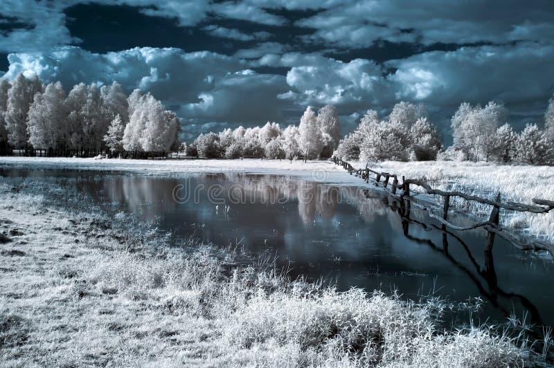 Horizontal dans l'infrarouge images libres de droits