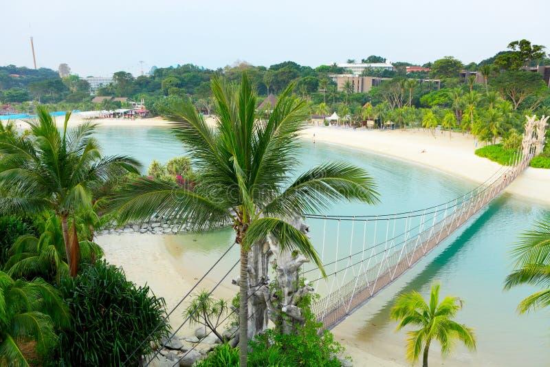 Horizontal dans le sentosa, Singapour photo stock