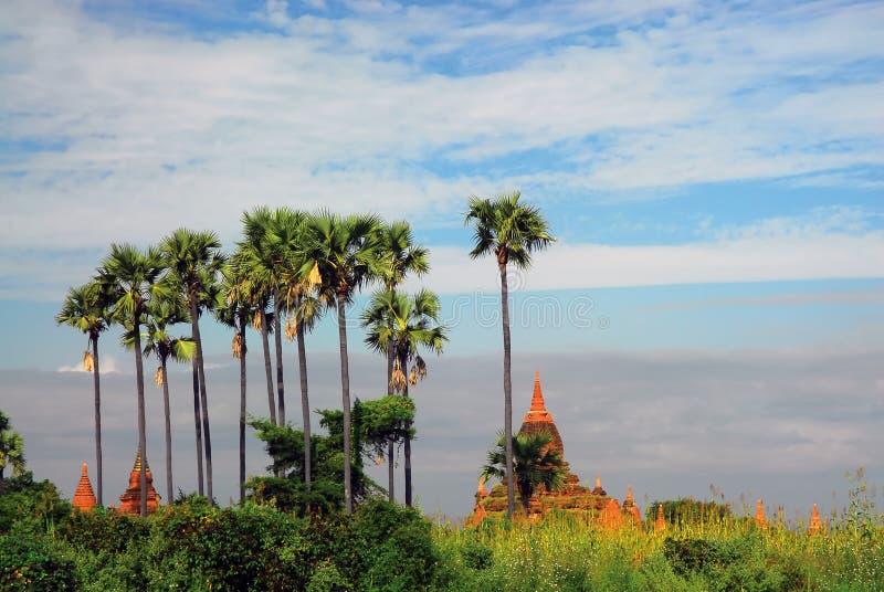 Horizontal de Bagan image stock