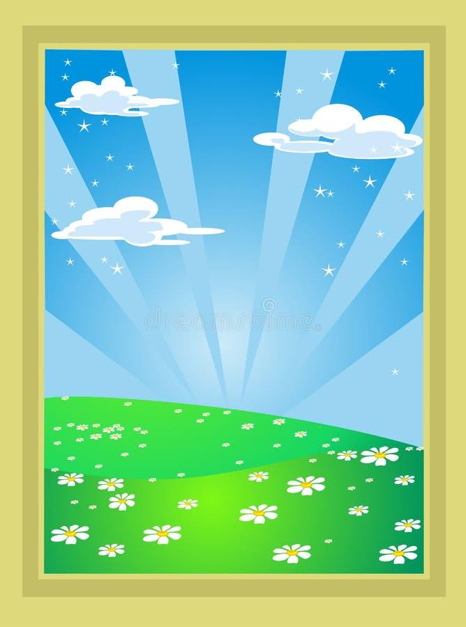 Horizontal de conte de fées illustration libre de droits