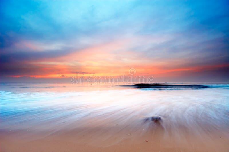 Horizontal de coucher du soleil images libres de droits