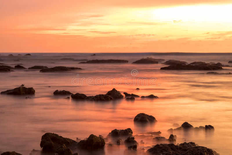 Horizontal de coucher du soleil images stock