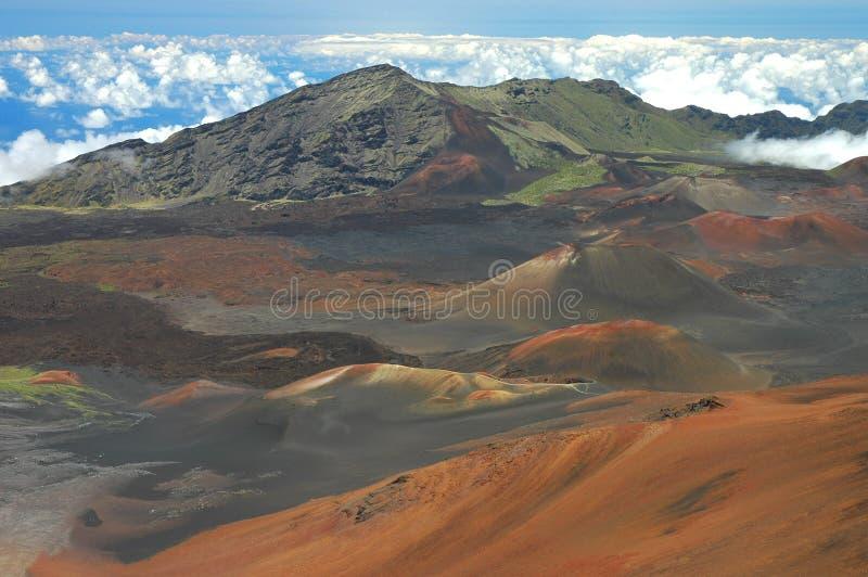 Horizontal de cratère de Haleakala image stock