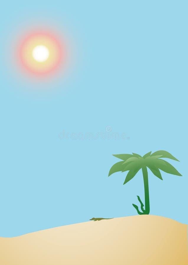 Horizontal de désert illustration libre de droits