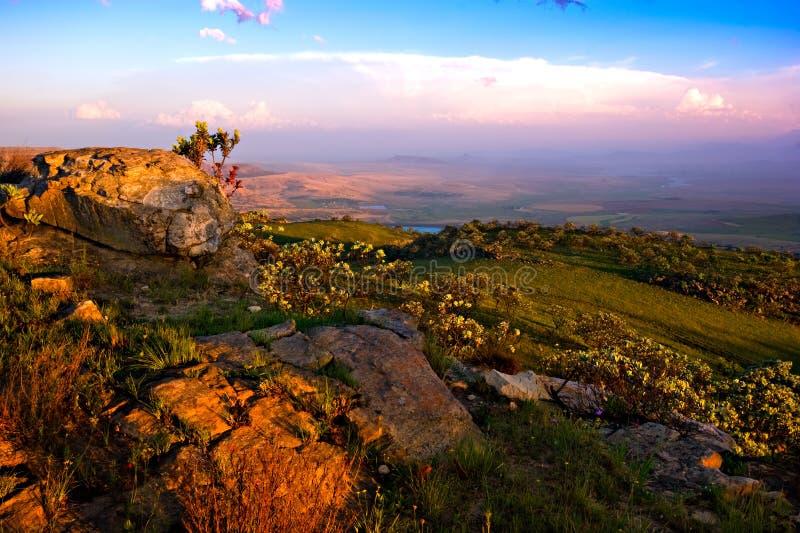 Horizontal de Drakensberg photographie stock