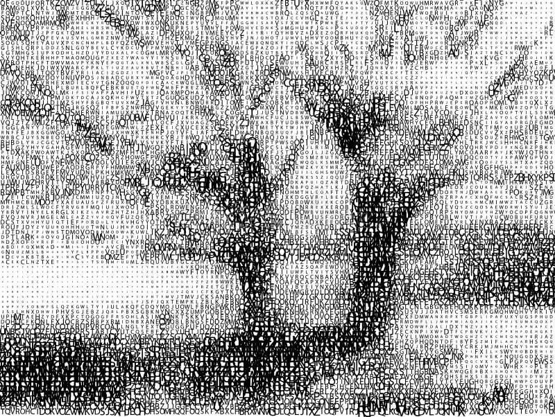 Horizontal de fontes. illustration stock