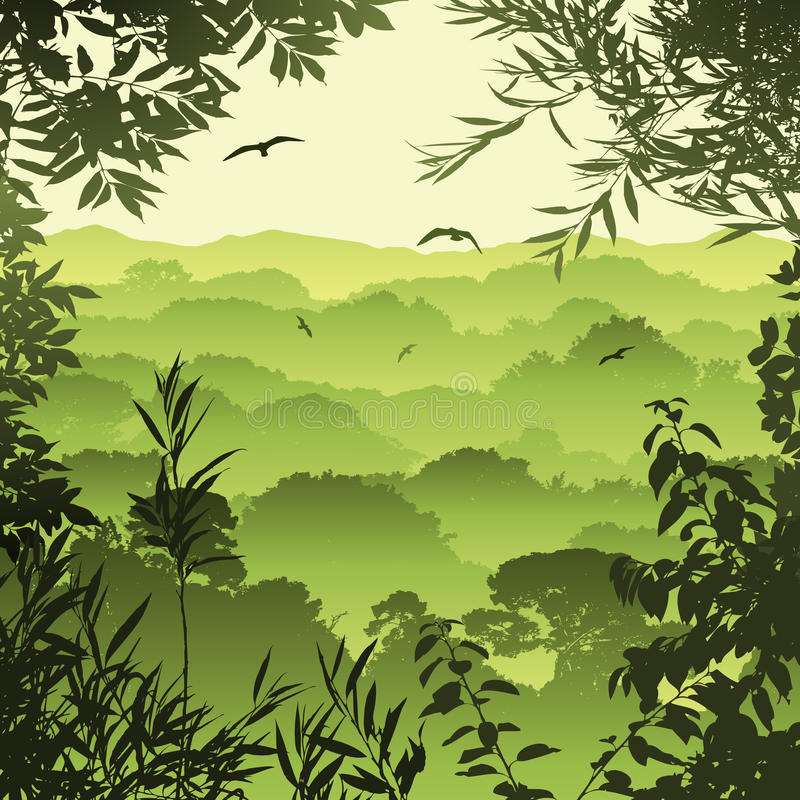 Horizontal de forêt illustration de vecteur