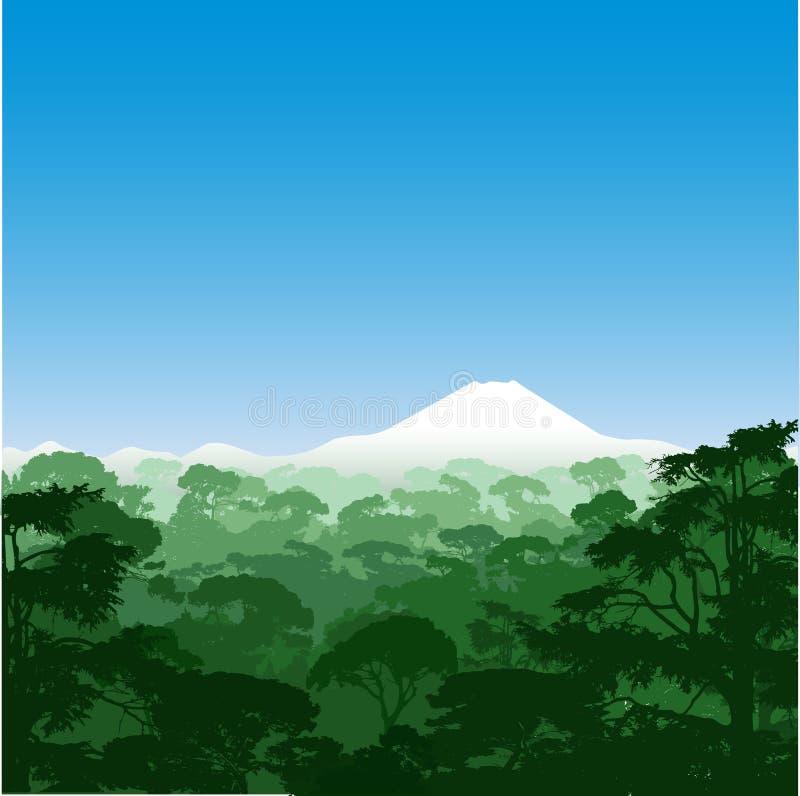 Horizontal de forêt illustration stock