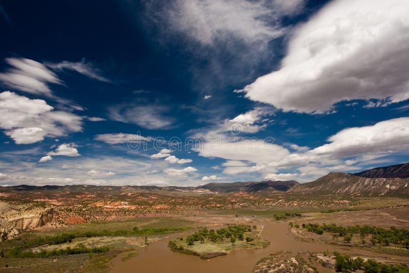 Horizontal de Green River photos libres de droits