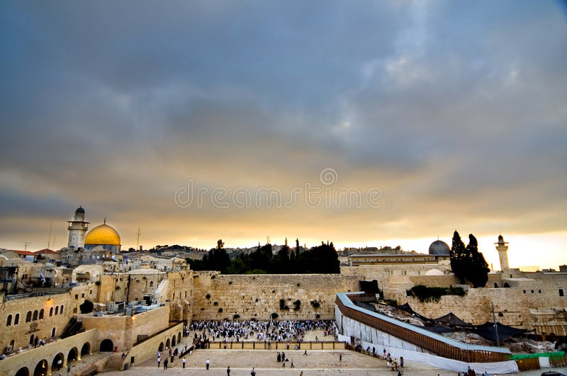 Horizontal de Jérusalem photo stock