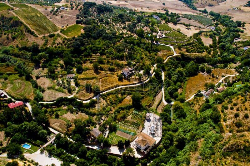 Horizontal de l'Andalousie photo libre de droits