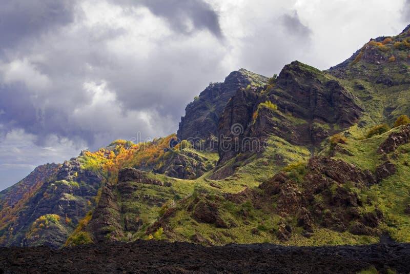 Horizontal de l'Etna image stock