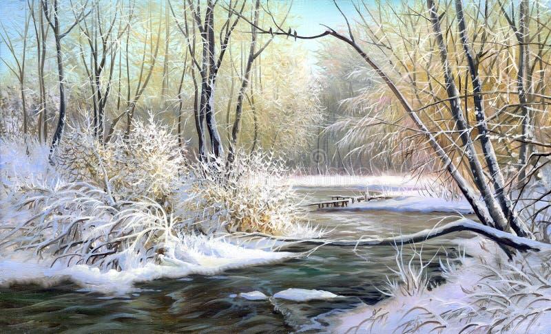 Horizontal de l'hiver illustration stock
