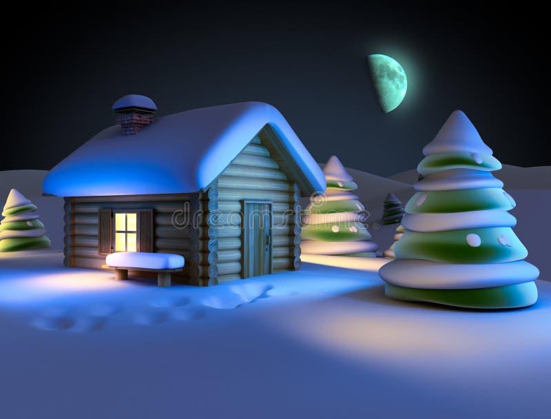 Horizontal de l'hiver illustration de vecteur