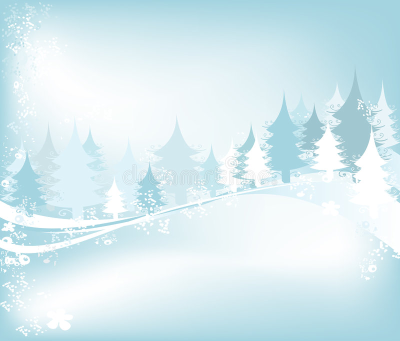 Horizontal de l'hiver illustration stock