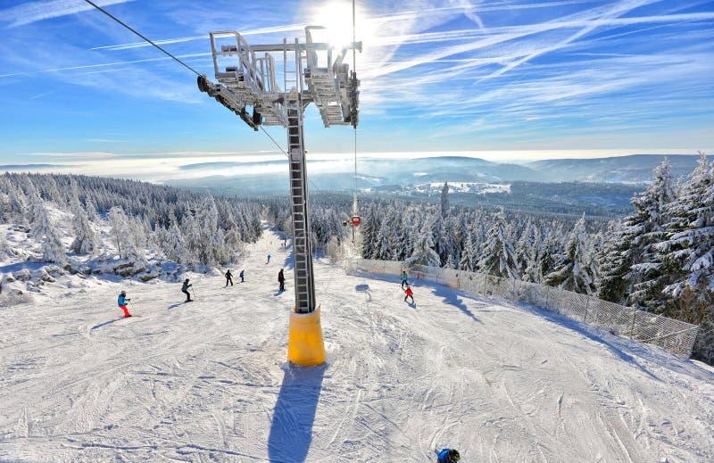 Horizontal de l'hiver avec la neige image libre de droits
