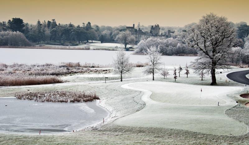 Horizontal de l'hiver avec le château dans la distance, irela photos libres de droits