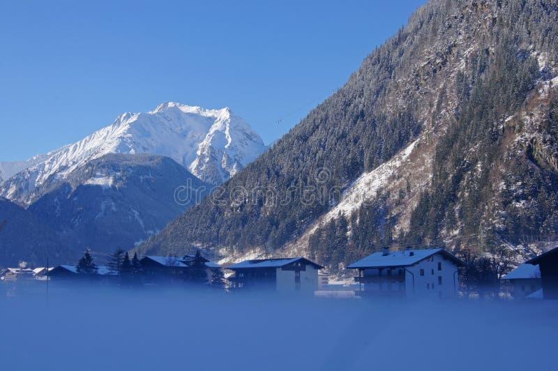 Horizontal de l'hiver en Autriche photo stock