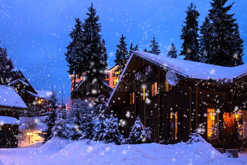 Horizontal de l'hiver de Noël photos libres de droits