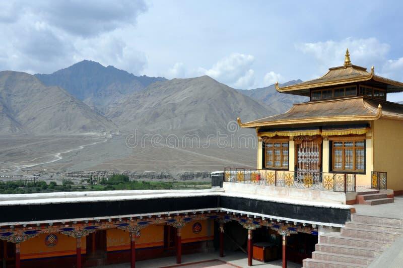 Horizontal de l'Inde - du Ladakh de monastère de Spituk photo libre de droits